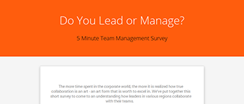 Take Our Team Management Survey